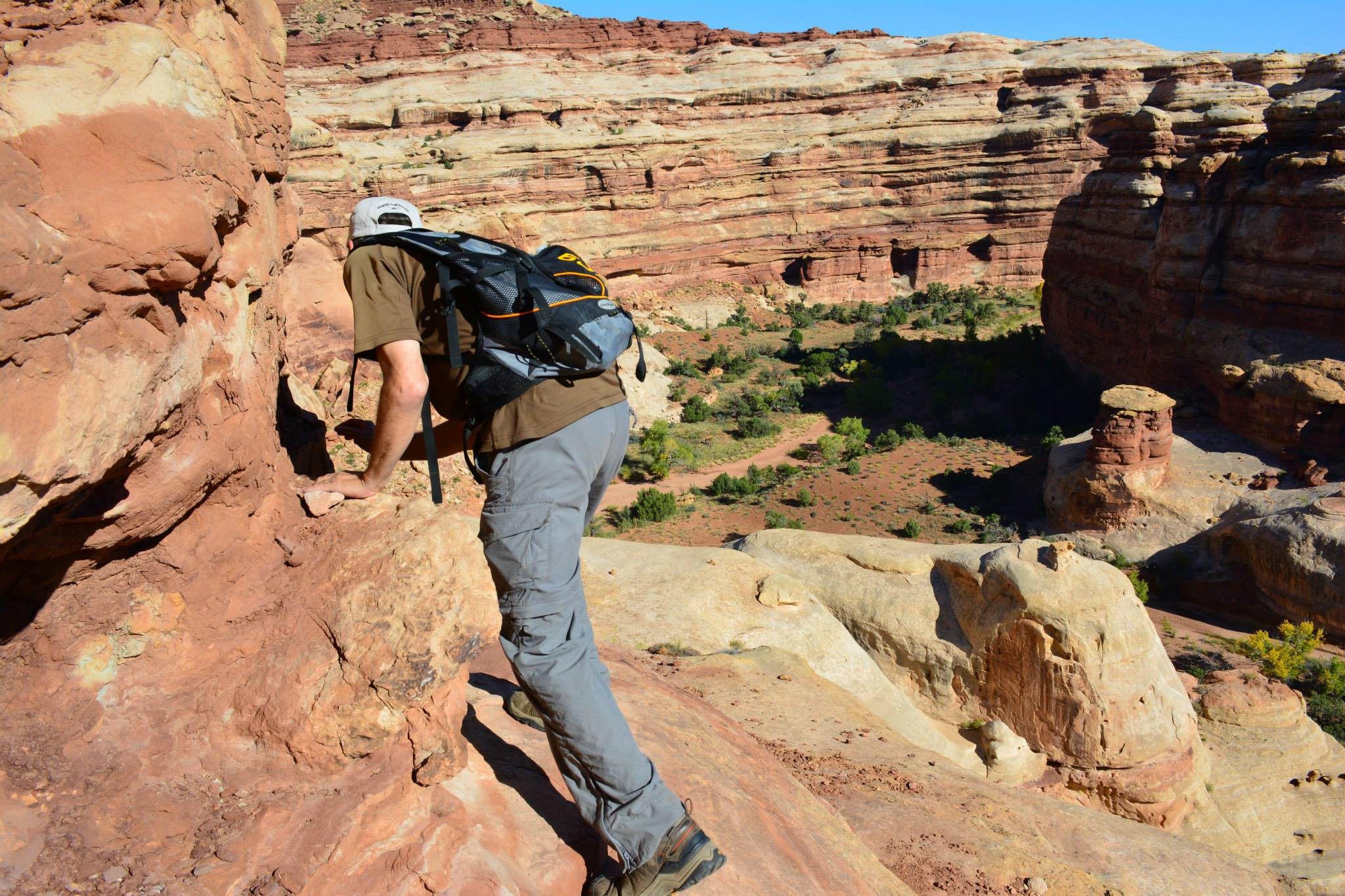 Hiking in The Maze within Canyonlands National Park