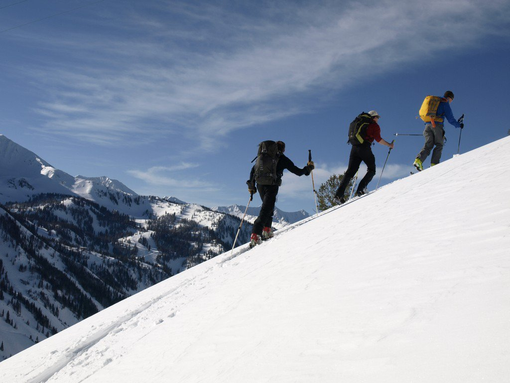 Backcountry skiing in Utah's Wasatch Mountains