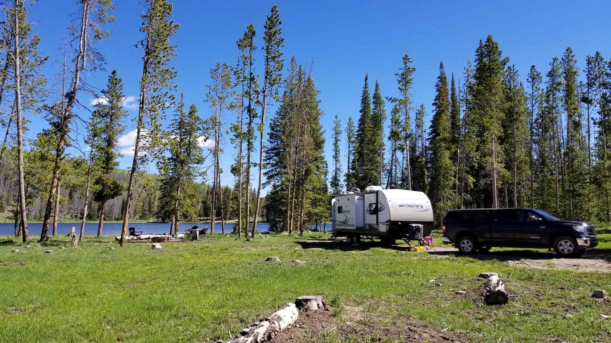 Boondocking at Lyman Lake in Utah's Uinta Mountains