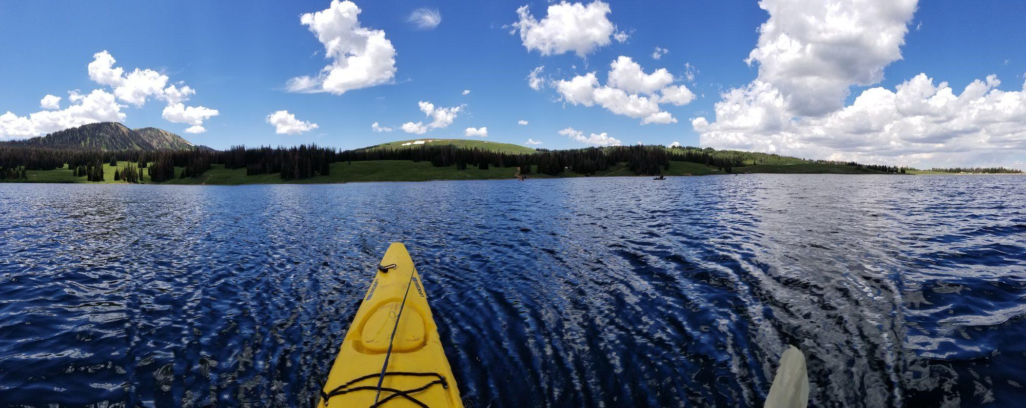 Kayaking at Whitney Reservoir, Utah