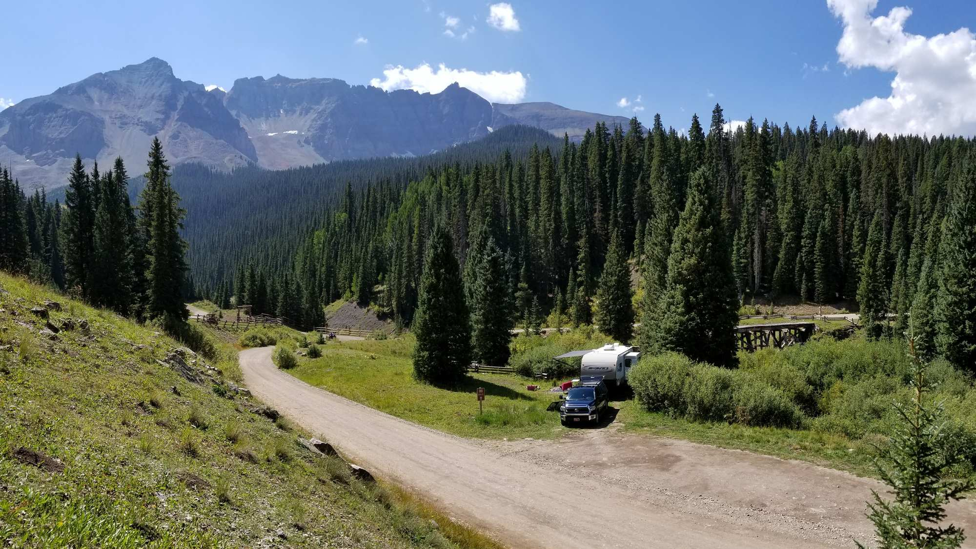 We found this stellar site along North Trout Lake Road near Telluride, Colorado