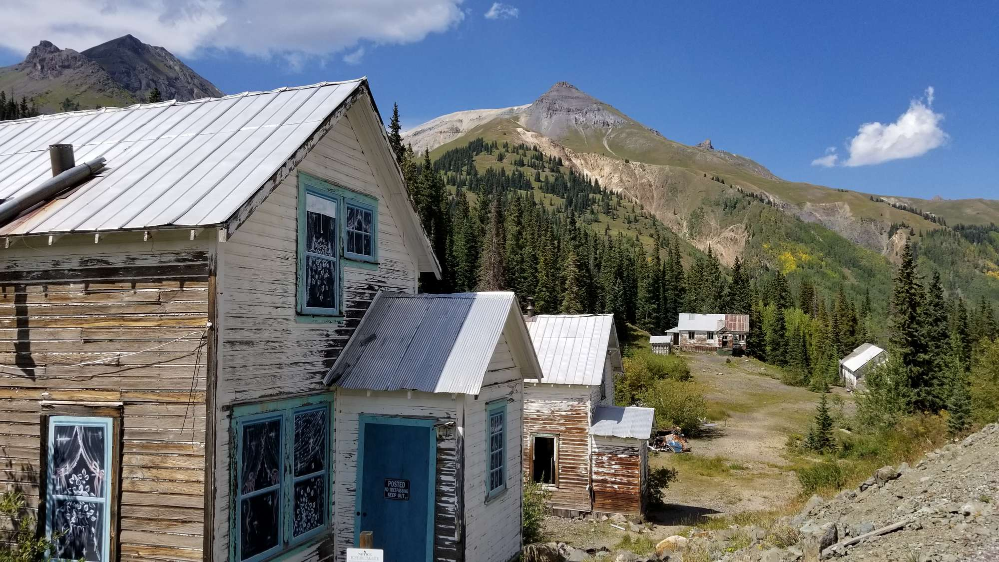 Mine ruins along Red Mountain Pass, between Ouray and Silverton, Colorado