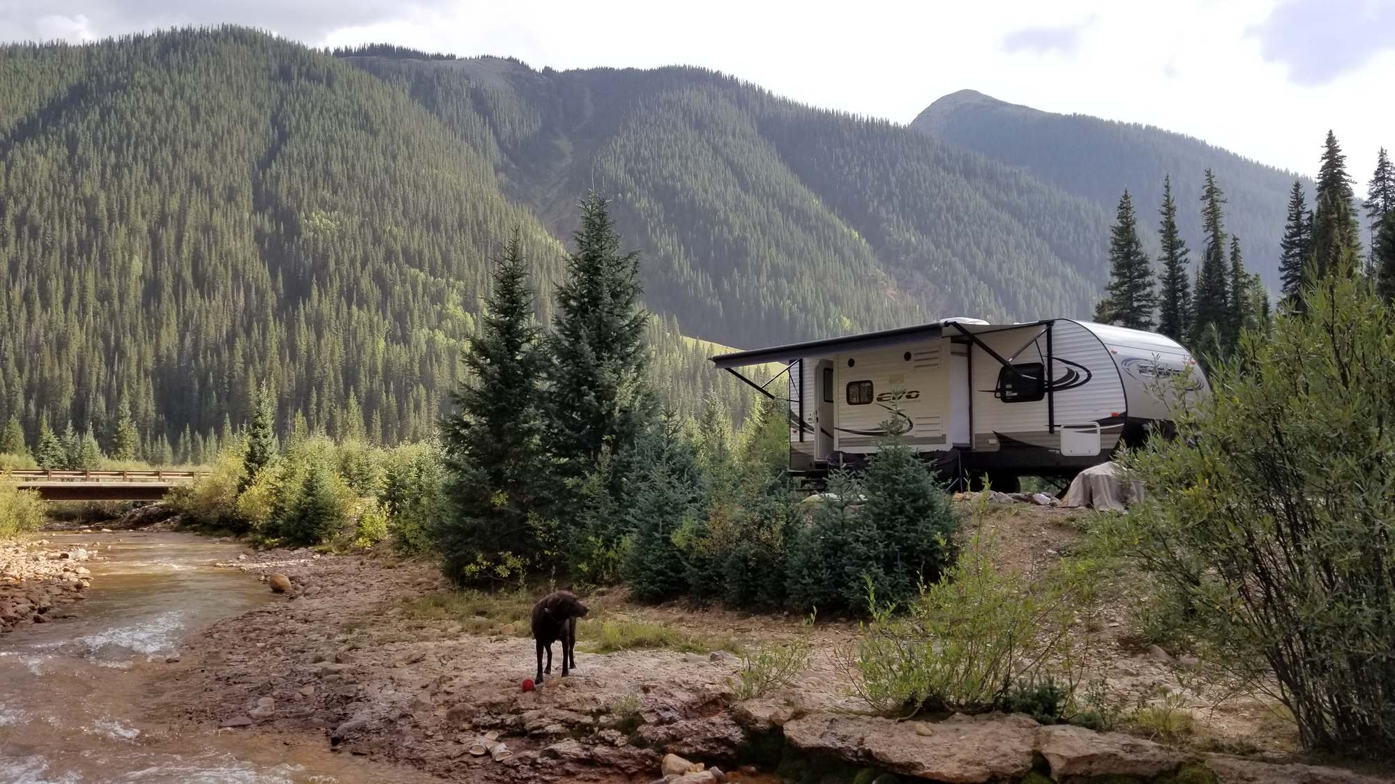 Our camp at Anvil Camping Area in Silverton, Colorado