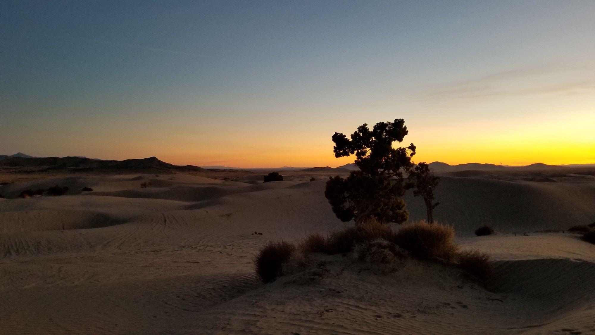 Sunset over Little Sahara