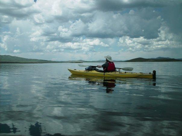 Blackfoot Reservoir kayaking
