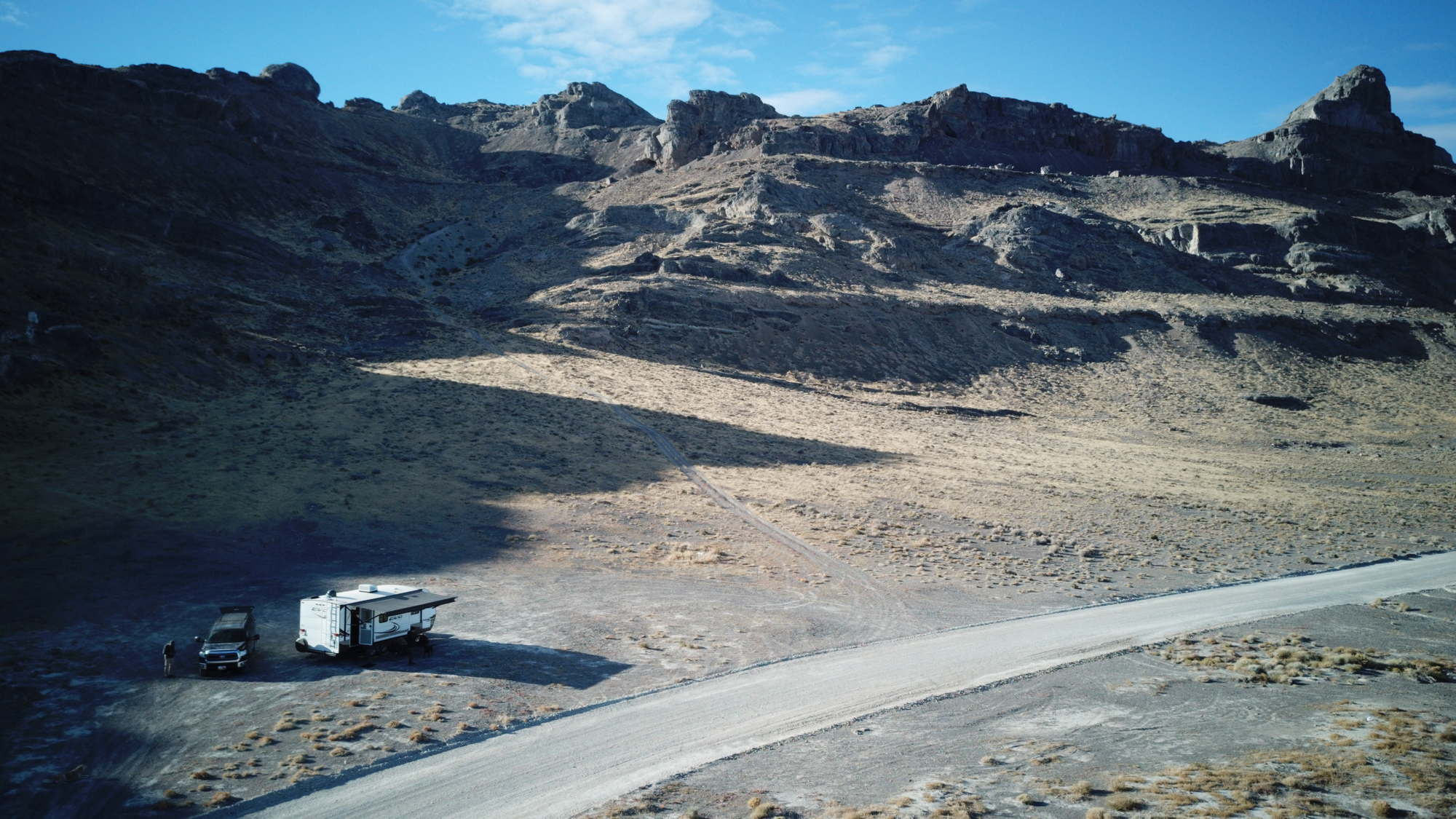 Our camp at Bonneville Salt Flats