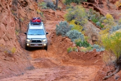 Descending the Flint Trail in Canyonlands National Park's Maze District - 4x4 mandatory!
