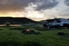 Boondocking at Forsyth Reservoir
