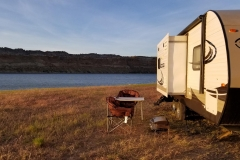 Boondocking at Flaming Gorge National Recreation Area, in Utah at the Wyoming line