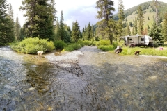 Boondocking in Sawtooth National Forest along the North Fork Big Wood River, near Sun Valley/Ketchum, Idaho