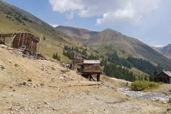 The mining ghost town of Animas Forks, Colorado