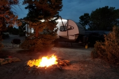 Our BLM boondocking site adjacent to Mesa Verde National Park, Colorado