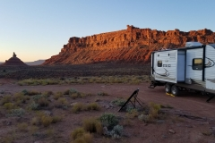 Camp at Valley of the Gods