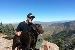 Hiking with my dear departed Jake