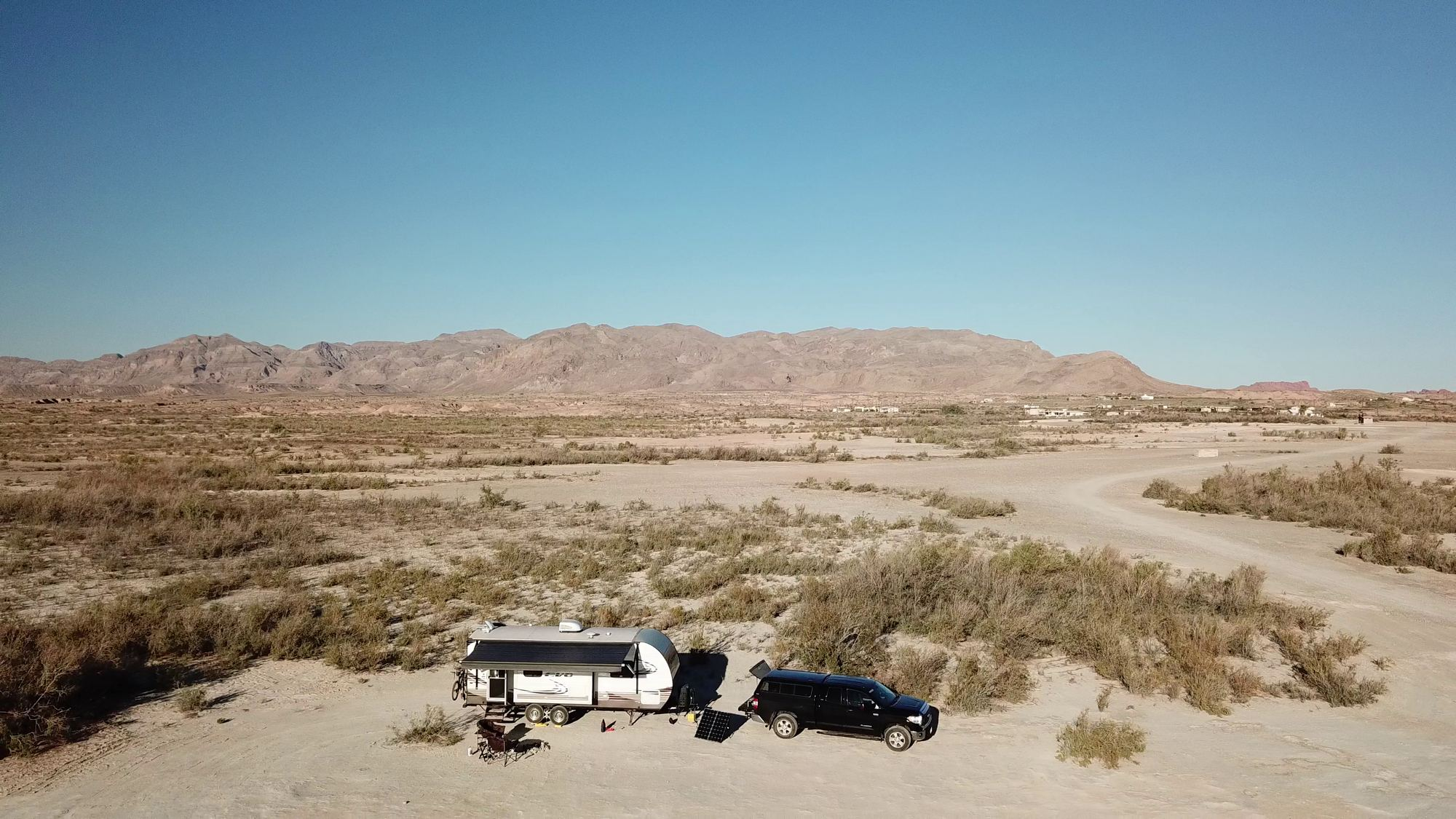 Our camp at Lake Mead