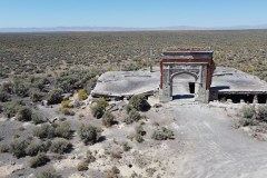What remains of the school at the ghost town of Metropolis, Nevada.